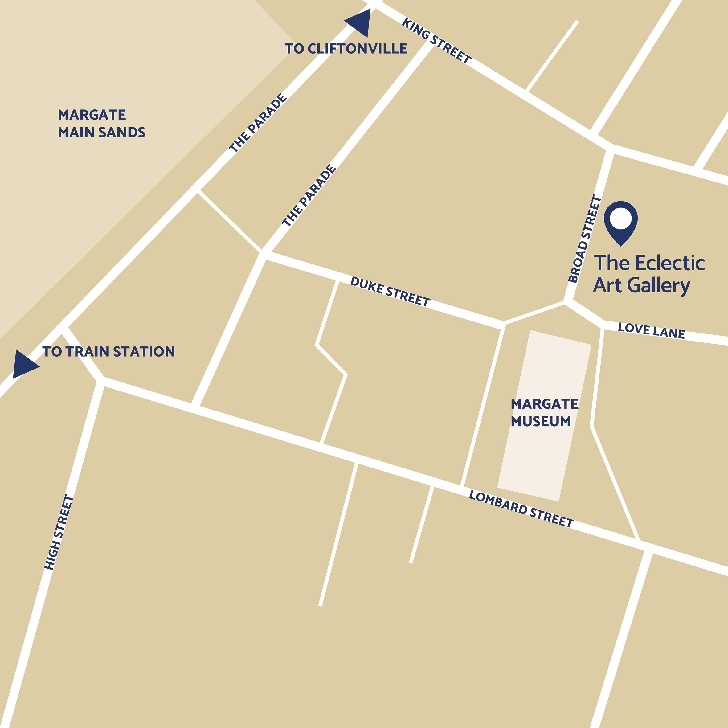 The Eclectic Art Gallery map