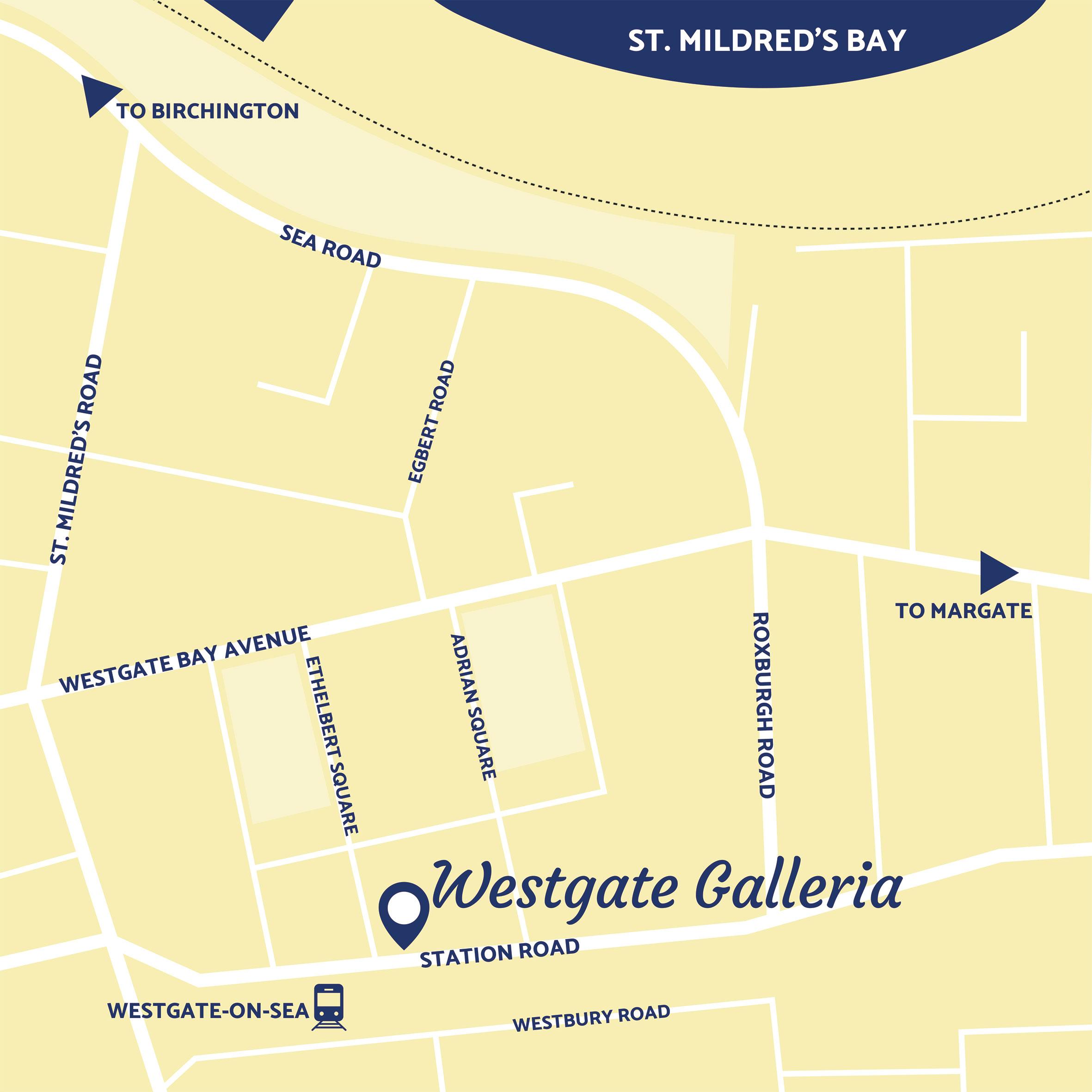 Westgate Galleria map