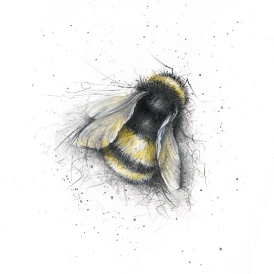 Bee cushion front