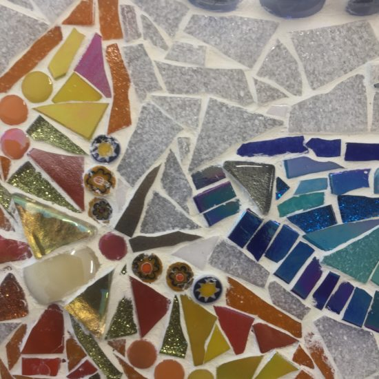 Detail of Butterfly Mosaic Mirror