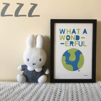 What a wonderful world print by beckyismyname