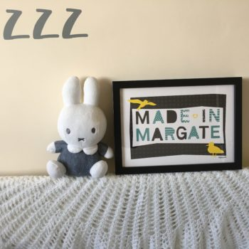 Made in Margate print in black colourway by beckyismyname