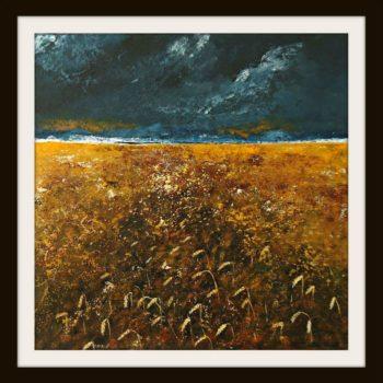 Wheatfield Painting by Serena Salvatore