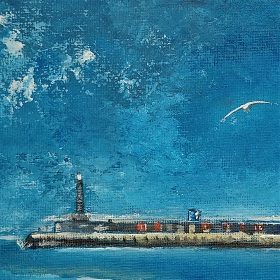 Close Up of Margate Lighthouse Painting