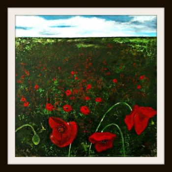 Poppyfield Painting by Serena Salvatore