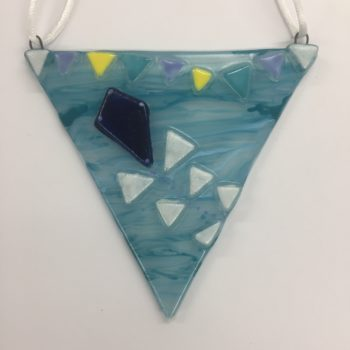 Kite Glass Bunting Decoration by Christine Jeffryes