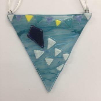 Kite Glass Bunting Decoration by Christine Jeffryes