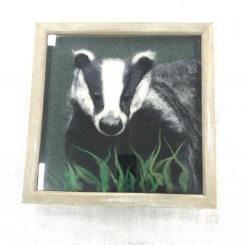 Felted Badger in Frame