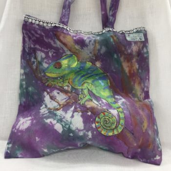 HAND PAINTED AND TIE-DYE BAG BY PAT MATTHEWS