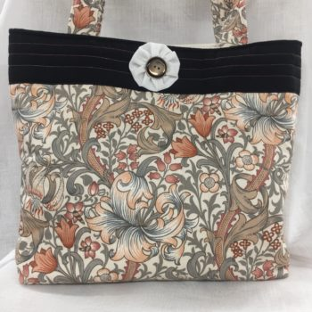 A quilted tote bag by Sybil Anderson