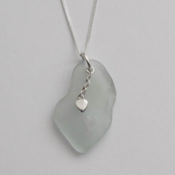 Sea Glass and Sterling Silver Pendant on Chain by Jane Martin
