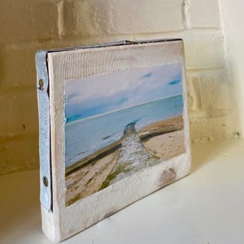Margate Slipway - Image mounted on scaffold board by Karen Keen Young