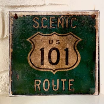 Scenic Route 101 - Image transfer on wood by Karen Keen Young