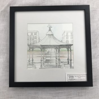 Oval Bandstand - painting by Sian Morgan