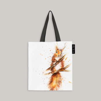 Tote bag with the image of a Squirrel by Beverley Fisher