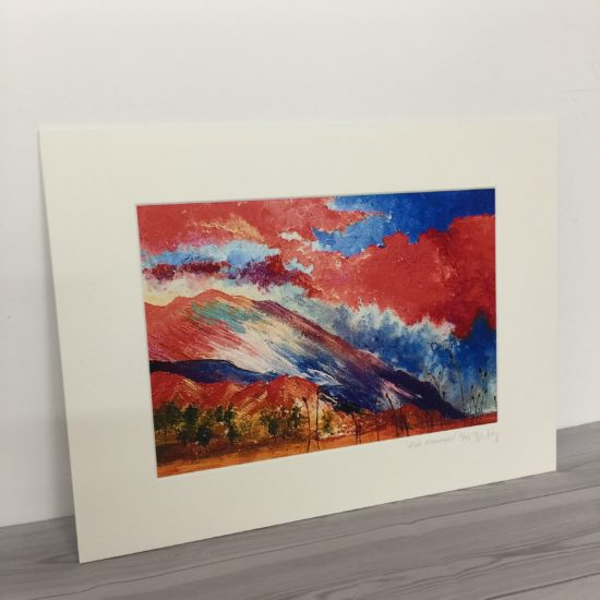 Red Mountain Print by Samantha Wing