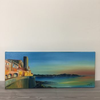Sunset over Antibes by Samantha Wing