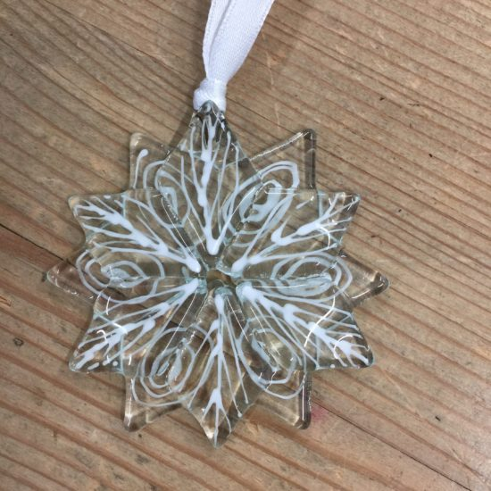 Small star tree decorations by Christine Jeffryes