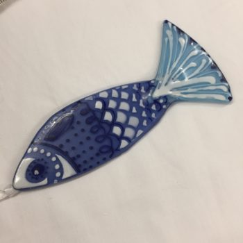 Blue Hanging Fish by Christine Jeffryes