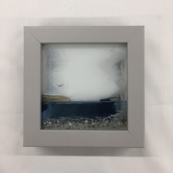 Island View glass mini framed picture by Celine Libera