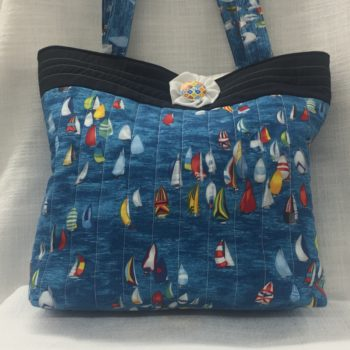 Blue Boats Tote Bag by Sybil Anderson