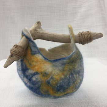 Day at the beach vessel 1 by Dee newton