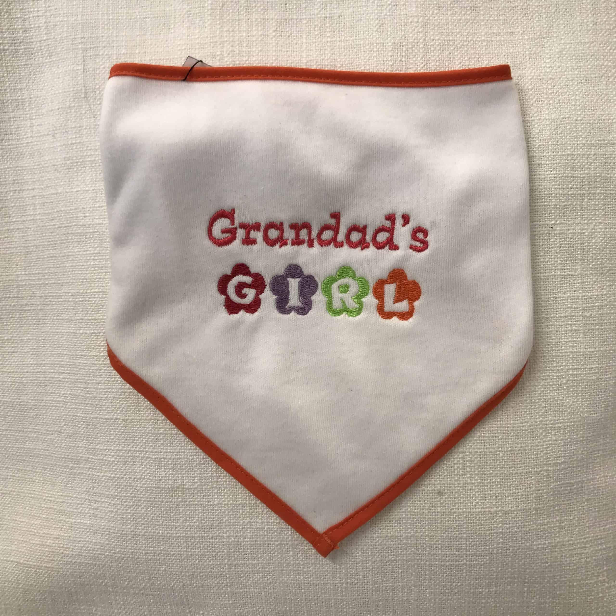 "Baby's Bib - ""Grandad's Girl"" by Dee Nolan"