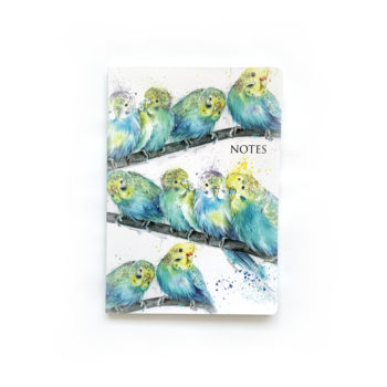 Budgies - Party Time Notebook by Beverley Fisher