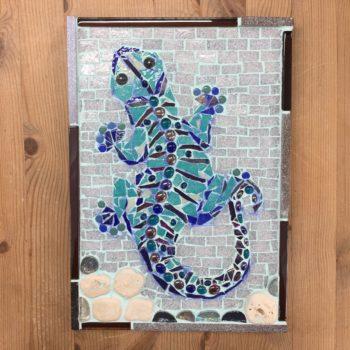 Jewel Gecko Mosaic Wall Hanging