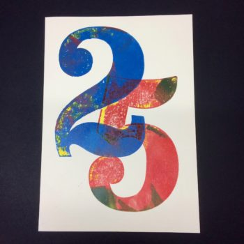 25 Birthday Card by David Wadmore