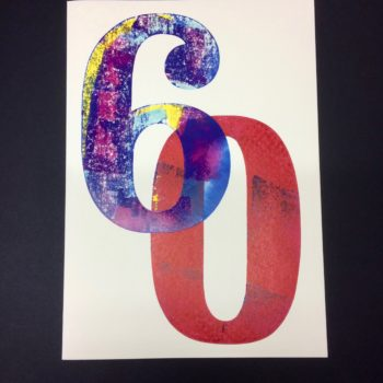 60 Birthday Card by David Wadmore