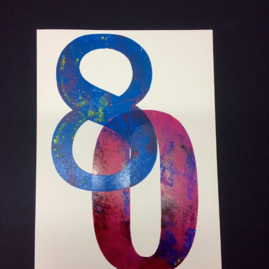 80 Birthday Card by David Wadmore
