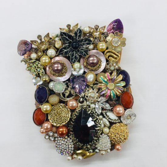 Vintage Jewellery Owl by Dee Newton