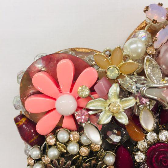 Vintage Jewellery Pink Heart by Dee Newton
