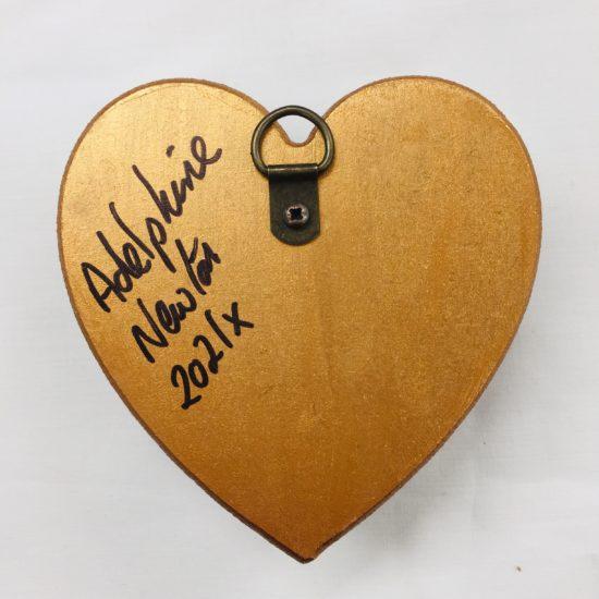 Reverse of Vintage Jewellery Pink Heart by Dee Newton