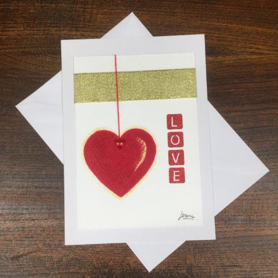 Love Greetings Card by Serena Salvatore
