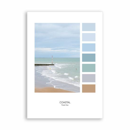 COASTAL Pastel Sea by Eleanor Marriott