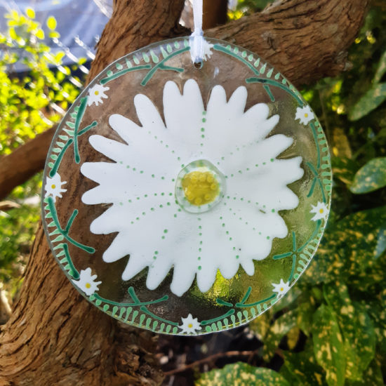 Daisy Hanging Ornament by Christine Jeffryes