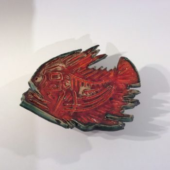 Red Fish Dish by Janis Volckman