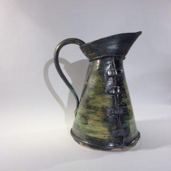 Large Copper Oxide/Verdigris Jug by Janis Volckman