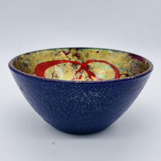 Small (Purple Outer) Bowl by Eve Stickler