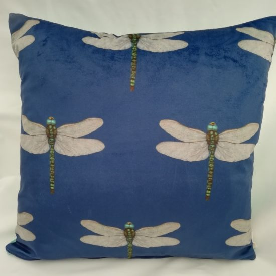 Velvet Dragonfly cushion by Linda Rendle